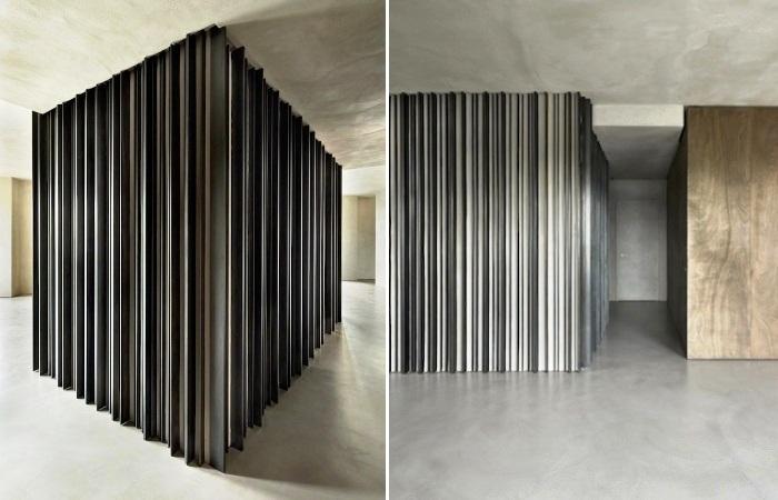 Необычная лестница может создавать иллюзию замкнутого пространства (Проект Storage associati). | Фото: mymodernmet.com.
