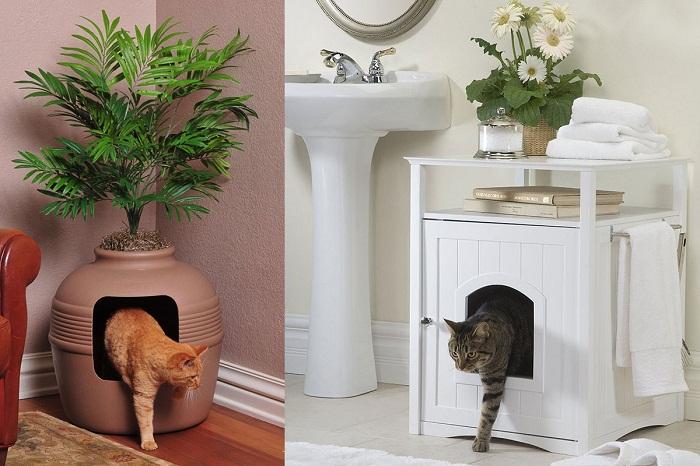 Организуйте укромное местечко в прихожей или ванной комнате.