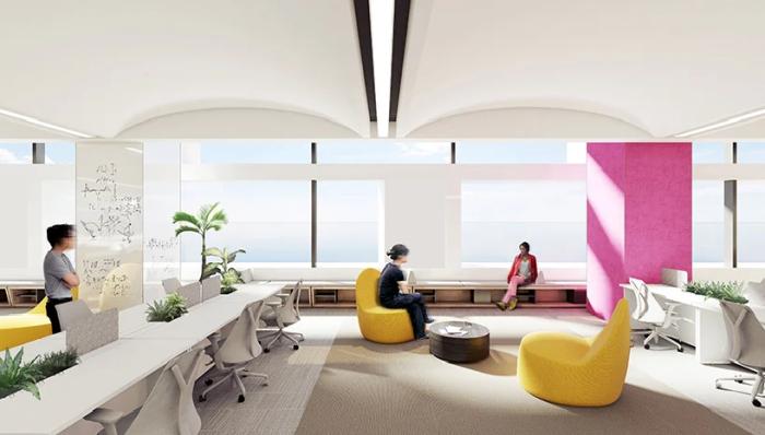 Просторные и светлые рабочие кабинеты повысят производительность труда и сохранят здоровье сотрудников (концепт NBBJ). | Фото: archiposition.com.