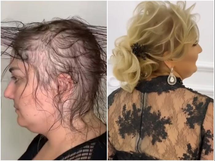 Сложно поверить, но это голова одной и той же дамы. | Фото: youtube.com/ © Vasily Шевченко.