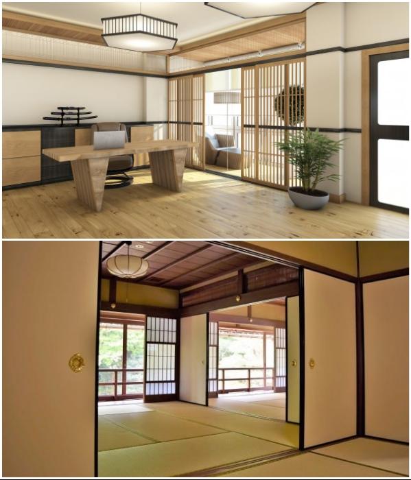Японцы никогда не загромождают пространство мебелью и открытыми полками. | Фото: timeszp.com/ matcha-jp.com.