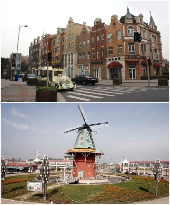 В «Holland Town» скопировано все – вплоть до старинных мельниц и городского транспорта (Гаокао, Шанхай). | Фото: pinterest.com.