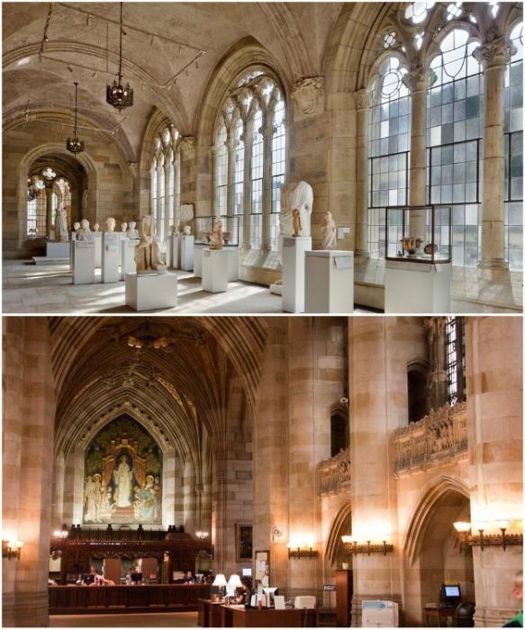 В Йельском университете есть канонические сооружения, а также музей архитектуры и искусства. | Фото: usamagazine.ru.