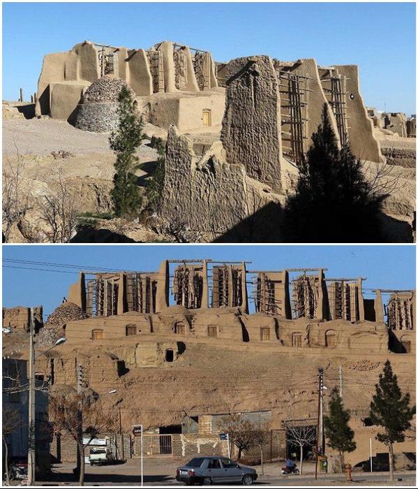 Древние персидские ветряные мельницы признаны национальным достоянием Ирана (Nashtifan). | Фото: atlasobscura.com/ pinterest.com.