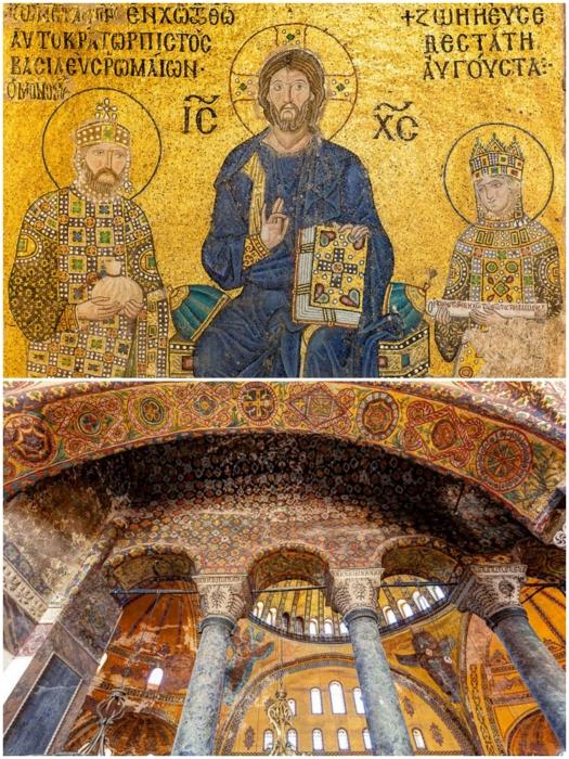 Из-за раскола церкви в храме 60 лет проводились католические богослужения (Собор Святой Софии, Стамбул).