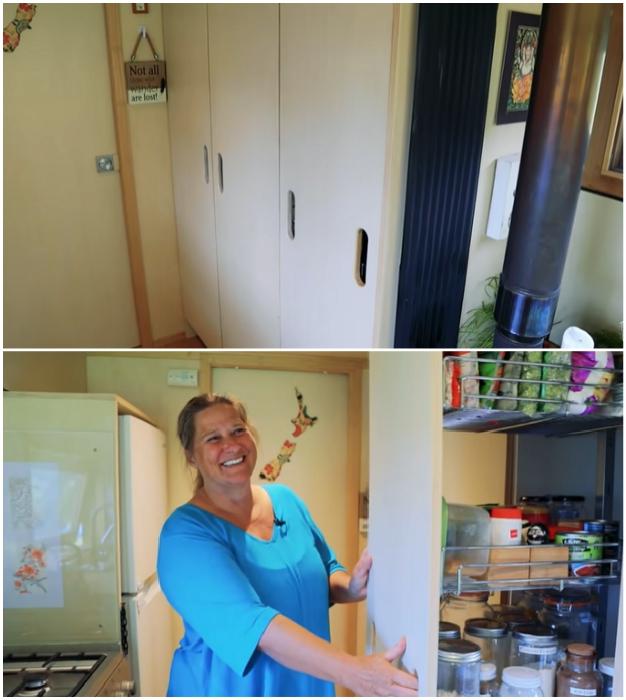 Грамотно организованные системы хранения – залог порядка и чистоты. © Living Big In A Tiny House.