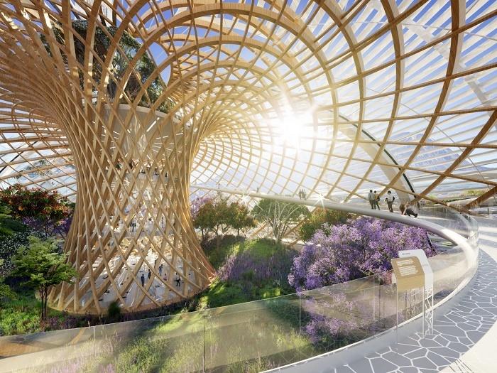 Благоухающий парк – идеальное место для отдыха и прогулок горожан (концепт Pollinator Park). | Фото: vincent.callebaut.org.