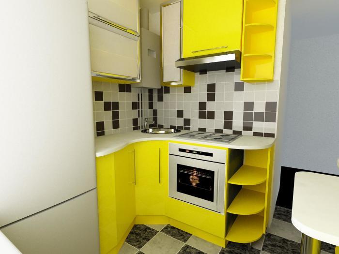 Даже кухню в 5 кв. м с помощью углового гарнитура можно сделать уютной и функциональной. | Фото: teleport.net.ru.
