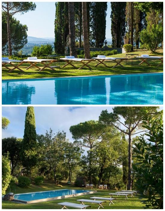 Бассейн на территории Villa Tavernaccia (Италия). | Фото: luxuryretreats.com.