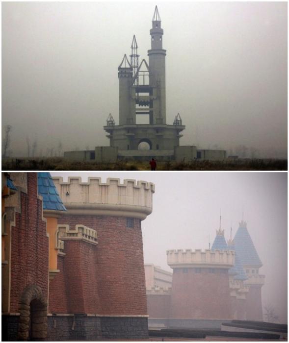 Вот так встречает экстремалов недостроенный Луна-парк призрак Wonderland (Chenzhuang, Китай).