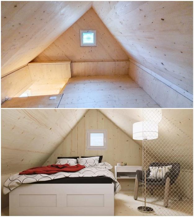 Трансформирующиеся домики могут поставляться как с обстановкой, так и без нее (Brette Haus).
