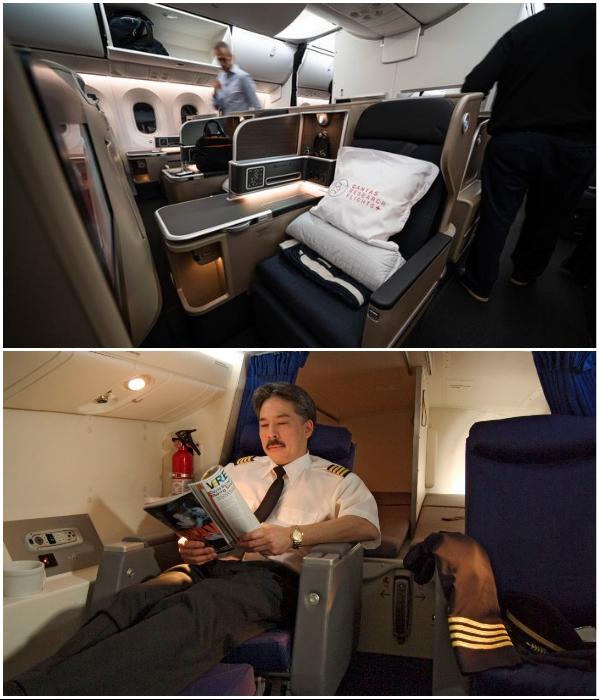 Комнаты отдыха для пилотов отличаются от спальных зон стюардесс. | Фото: businessinsider.com/ bigpicture.ru.