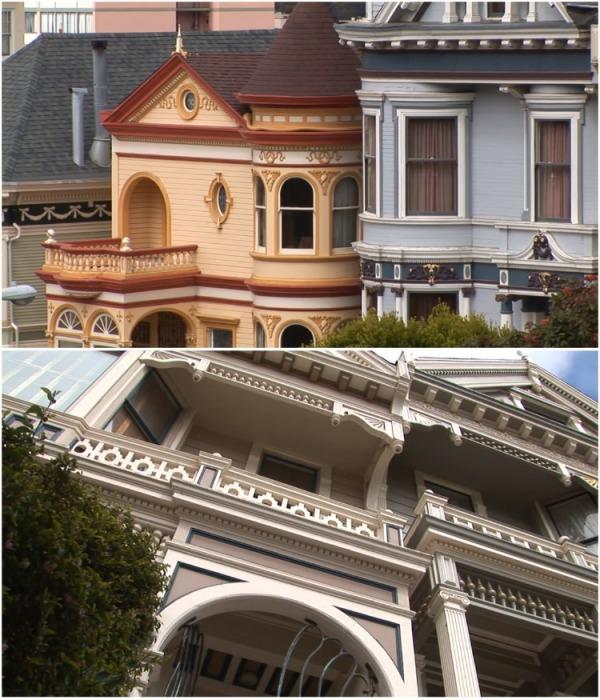 Декор очаровательных домиков действительно впечатляет («Painted Ladies», Сан-Франциско). | Фото: youtube.com/ Subscribe Travel & Discover.