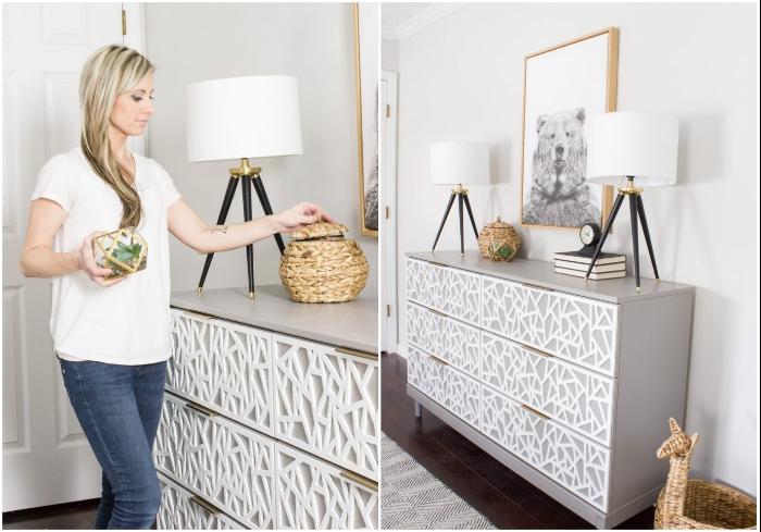 Вот теперь обновленный комод стал достойным украшением комнаты. | Фото: instagram.com/ © erinspainblog.