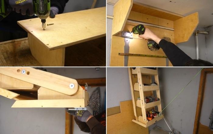 Добротная подвесная система хранения для гаража и не только. | Фото: youtube.com/ © Men's Craft.