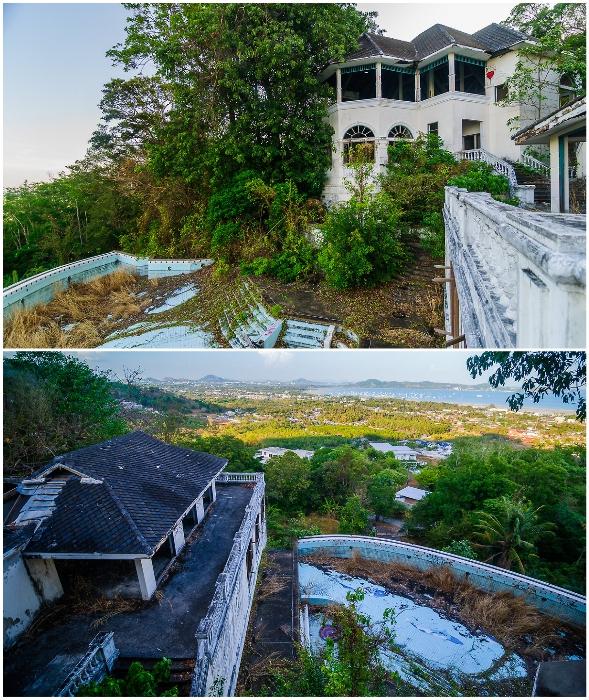 Огромная заброшенная вилла в районе Чалонг на острове Пхукет больше напоминает небольшой поселок, нежели дом для одного человека (Таиланд).