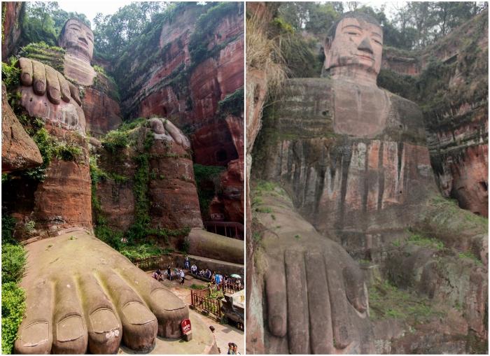 Размеры каменного Будды действительно впечатляют (Эмэйшань, Китай). | Фото: ArchitectureGuru/ 1000mest.ru.