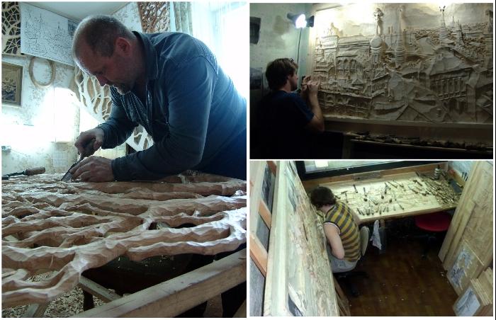 Все произведения в семейной мастерской делаются только вручную. | Фото: vatikam.com/ pikabu.ru.
