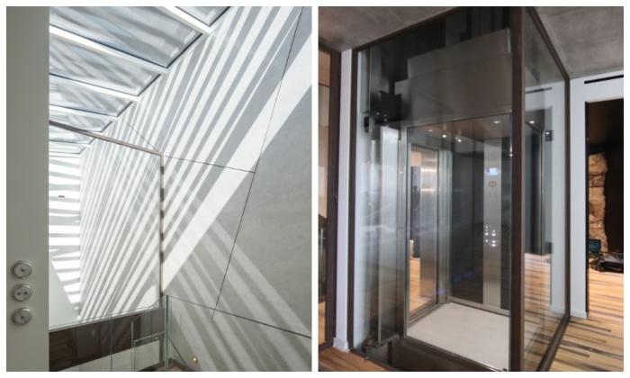 Прозрачная крыша и стеклянные элементы и интерьера делают пространство более светлым и воздушным («Villa Troglodyte», Монако). | Фото: lagazettedemonaco.com.
