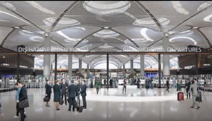 Общедоступная зона аэровокзала «Стамбул» (Зал прилета/вылета).