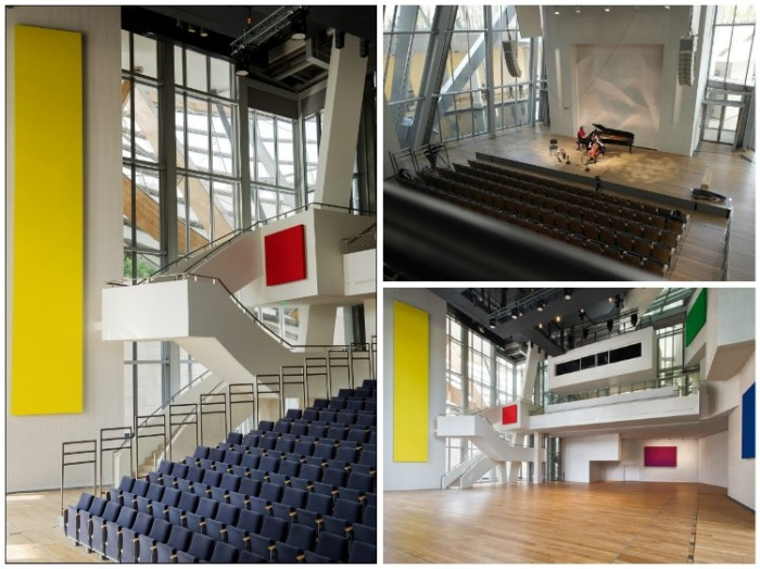 Концертный зал монтируется только для проведения концертов, в остальное время он является выставочной площадкой (Fondation Louis Vuitton). | Фото: archi.ru.