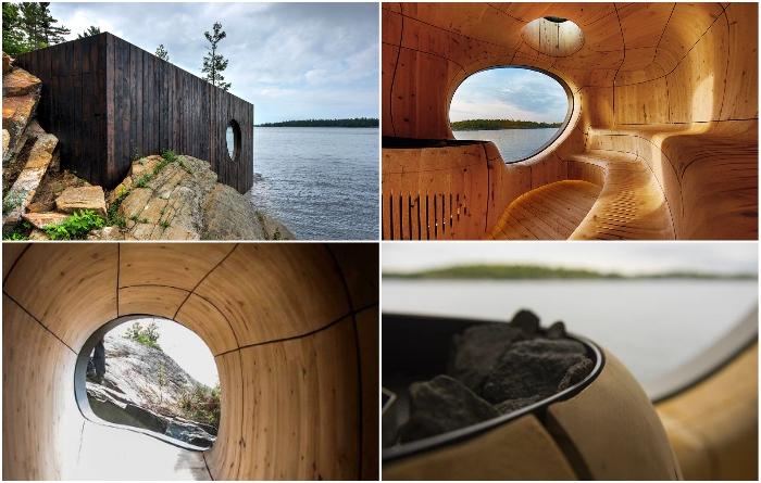 В необычной сауне царит абсолютная гармония с природой. / Фото: projects.archiexpo.es.