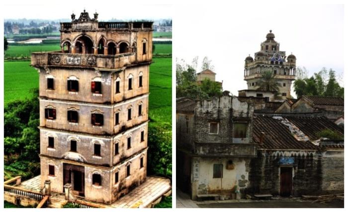 Общественная крепость дяолоу возводилась в центре деревни (Кайпин, Китай). | Фото: liveinternet.ru.