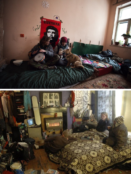 В связи с пандемией, сквоттеры могут рассчитывать на дополнительную материальную помощь. | Фото: assiette.ru/ bugaga.ru.