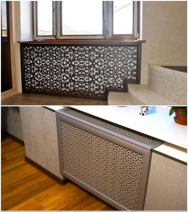 Декоративные экраны делают из различных материалов и в любом цвете.