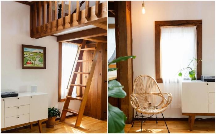 Белый цвет выгодно подчеркнул детали интерьера, созданные из дерева (Сан-Франциско, США). | Фото: pro-remont.mediasalt.ru/ apartmenttherapy.com.