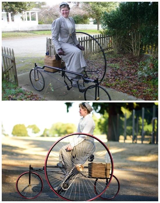 Уникальный трехколесный велосипед, который является точной копией модели XIX века.