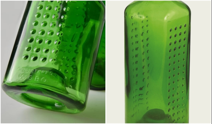 Ребристая поверхность усиливает сцепление с раствором (Heineken WOBO).