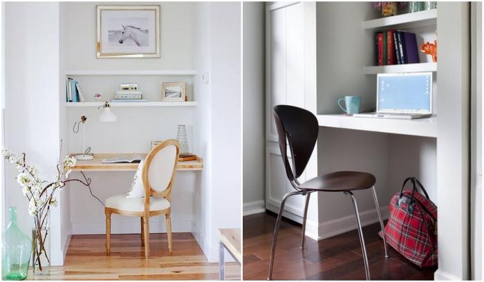 Когда места мало, можно обойтись и одной столешницей. | Фото: domfront.ru/ effectivehouse.com.