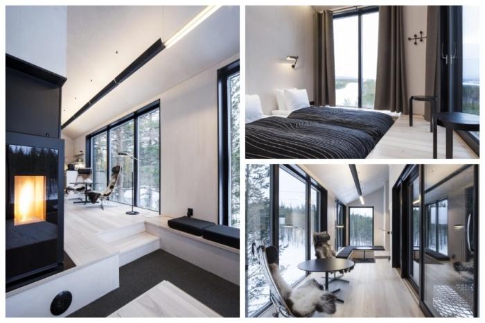 Вилла на дереве «The 7th room» рассчитана на 5 человек и имеет общую площадь 100 кв. метров (отель Treehotel, Швеция). | Фото: archi.ru.