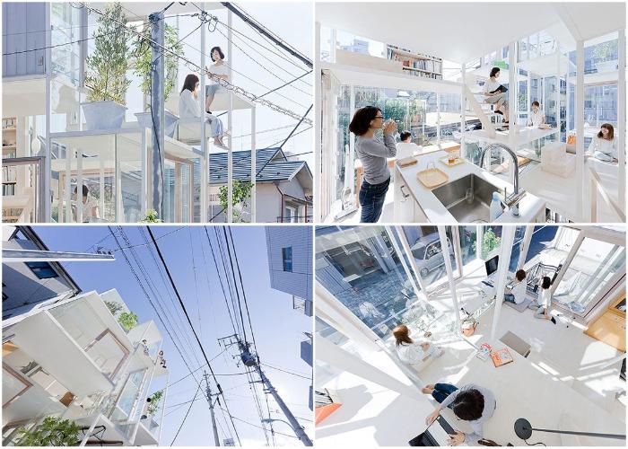 Интерьер самого необычного жилого дома House Na можно увидеть в Токио.