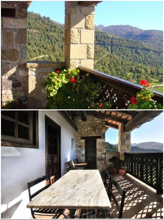 К услугам постояльцев открытые террасы и балконы с живописным панорамным видом («Castell de Llaes», Испания). | Фото: tripadvisor.es/ boredpanda.com, © Marc/Airbnb.