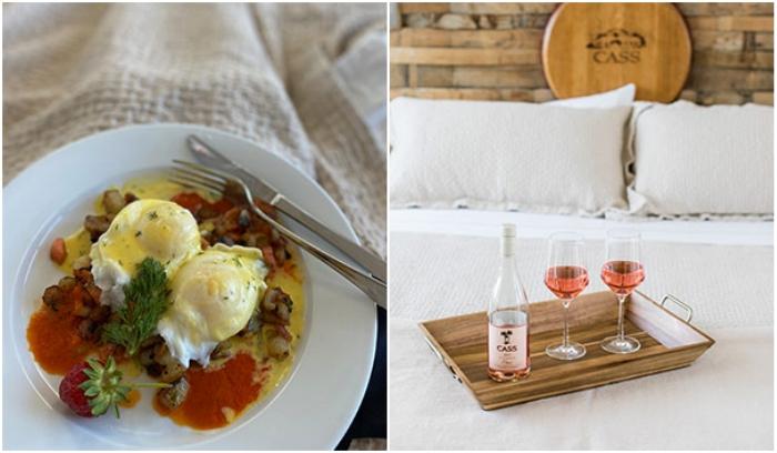 Постояльцев утром ждет завтрак в постель, а вечером – изысканные блюда для романтического ужина («Geneseo Inn», Калифорния). | Фото: casswines.com.