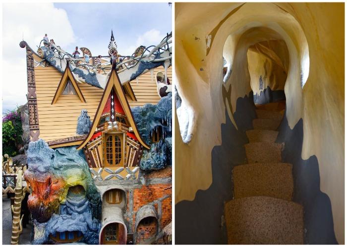 «Сумасшедший дом» – самый удивительный и креативный гостевой дом Вьетнама (Crazy House, Далат).