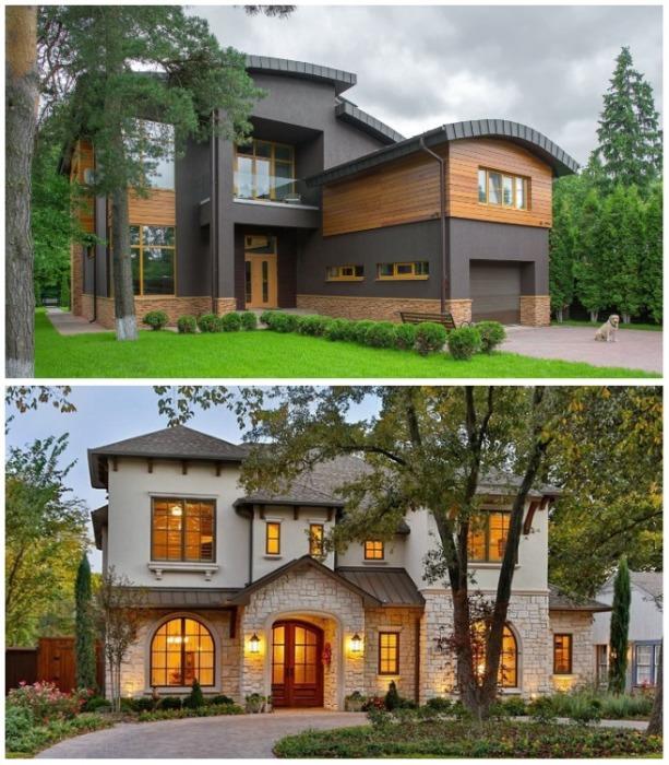Современный загородный дом, утопающий в зелени станет идеальным жилищем для весов. | Фото: roomble.com.