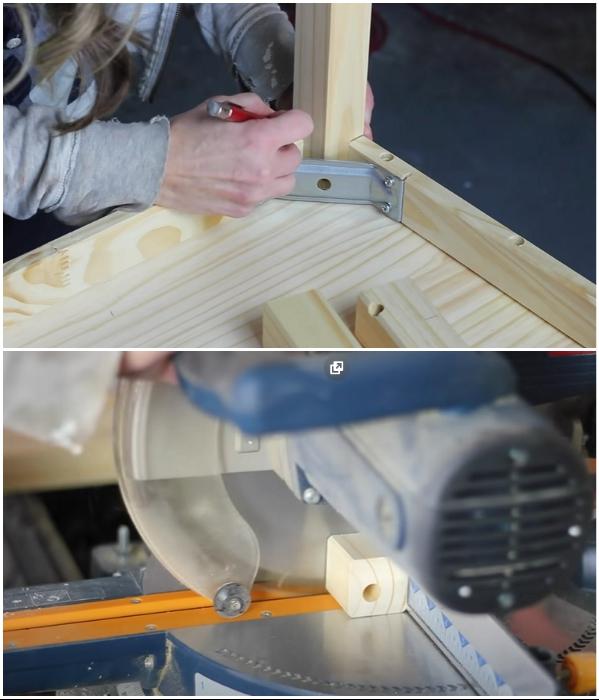 Ножки из комплекта пришлось срезать заподлицо, чтобы установить другие. | Фото: youtube.com/ © Erin Spain.