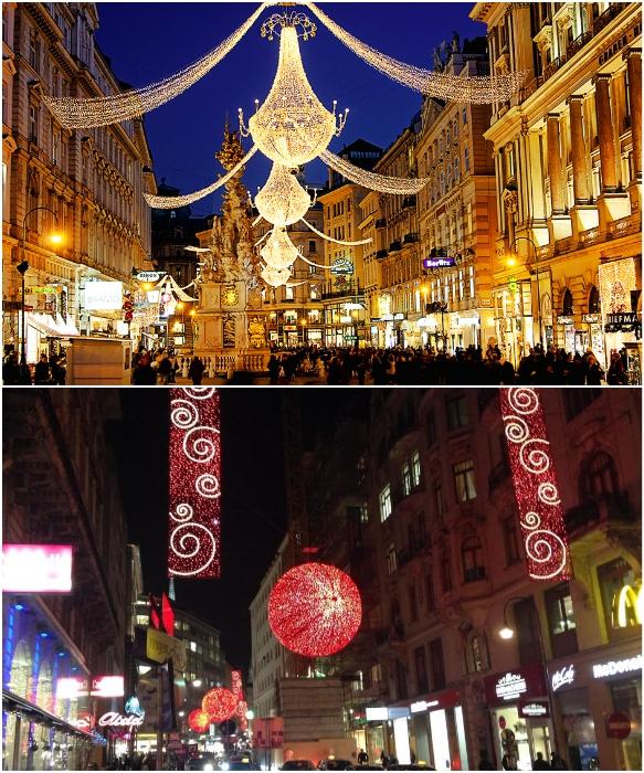 Вена перед Рождеством превращается в настоящую сказку (Австрия). | Фото: modamoda.info /otravel.club.