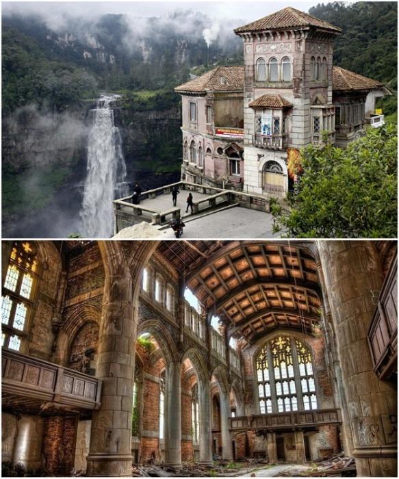 Былое величие отеля превращается в жуткие руины (El Hotel del Salto, Колумбия). | Фото: admagazine.ru.