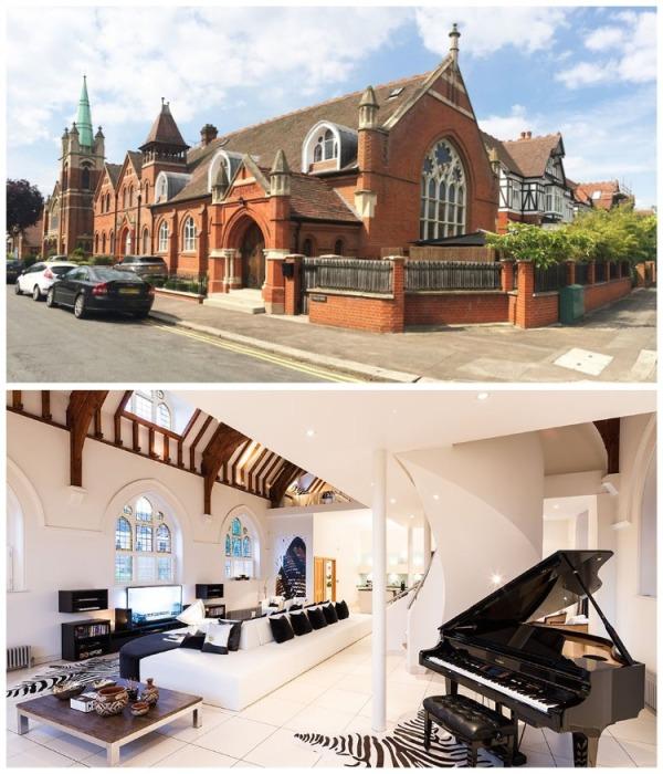 Лондонская церковь не поменяла свой викторианский архитектурный стиль, лишь интерьер приобрел современные очертания (Великобритания). | Фото: vagrantpress.dev.