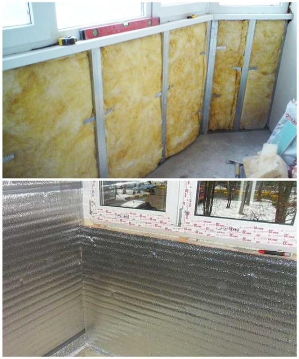Теплоизоляционный материал для утепления балкона/лоджии. | Фото: balkonhelp.ru.