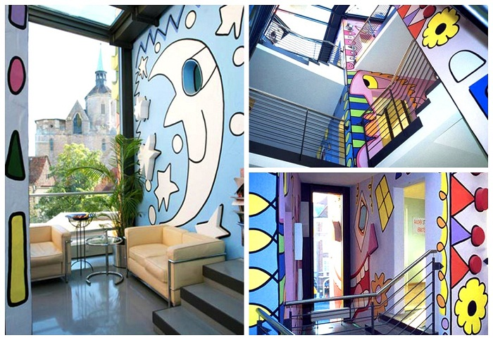 Интерьер офисов в необычном бизнес-центре Германии («Happy Rizzi House»).