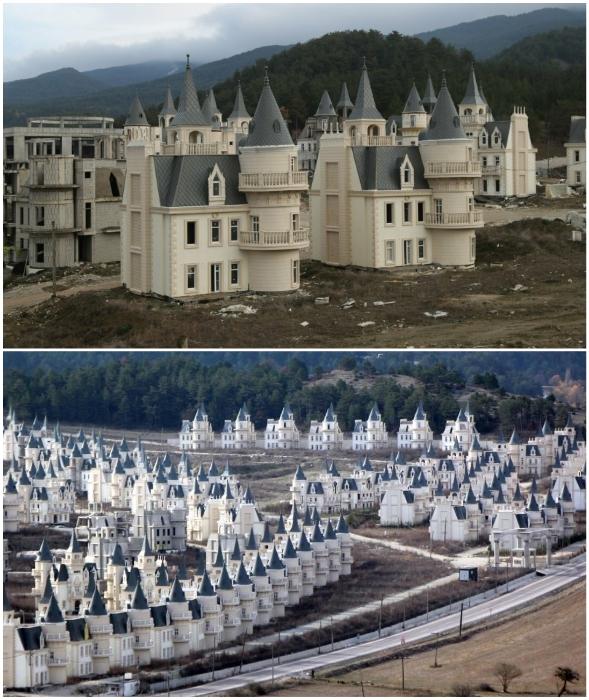 Несостоявшийся город миллионеров Burj Al Babas – самый большой просчет турецких застройщиков (Мудурну, Турция).