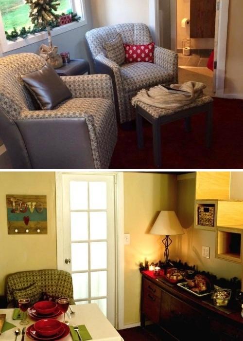 Уютную гостиную можно превращать в настоящую столовую («My Empty Nest»).   Фото: chudesa.site.