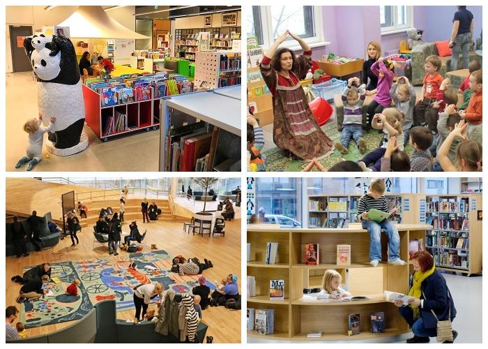В Финляндии детей приучают к чтению и посещению библиотек еще с младенчества (Центральная библиотека Oodi, Финляндия).