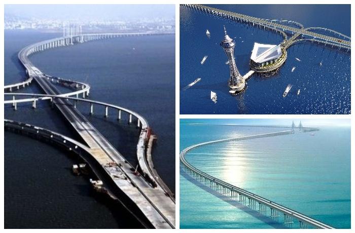 Трансокеанский мост через залив Ханчжоувань (Китай).