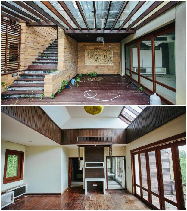 Деревянные конструкции Luxury Villa приходят в аварийное состояние, поэтому следует быть предельно осторожными (о. Самуи, Таиланд).